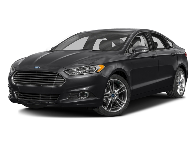 Shadow Black 2016 Ford Fusion Pictures Fusion Sedan 4D Titanium AWD I4 Turbo photos front view