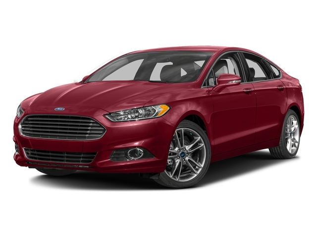 Ruby Red Metallic Tinted Clearcoat 2016 Ford Fusion Pictures Fusion Sedan 4D Titanium AWD I4 Turbo photos front view