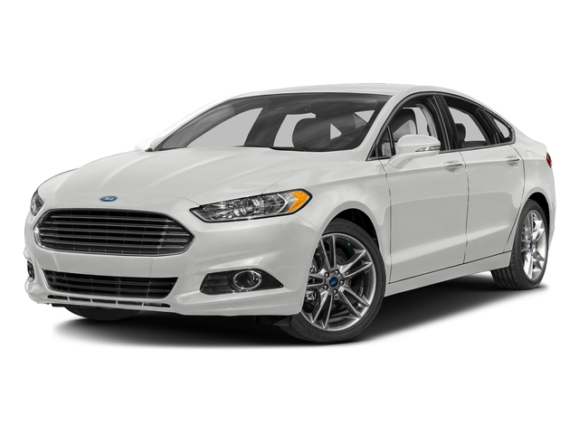 White Platinum Metallic Tri-Coat 2016 Ford Fusion Pictures Fusion Sedan 4D Titanium AWD I4 Turbo photos front view