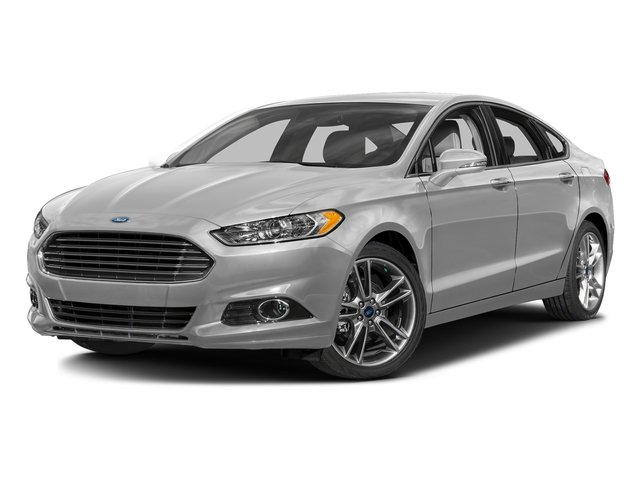 Ingot Silver 2016 Ford Fusion Pictures Fusion Sedan 4D Titanium AWD I4 Turbo photos front view