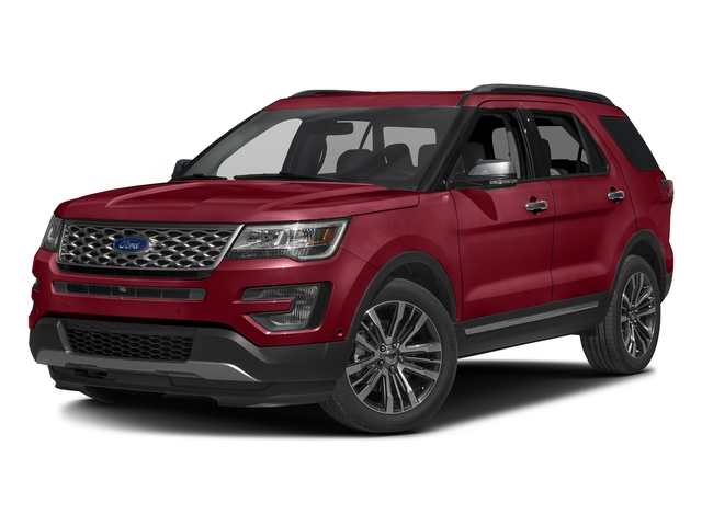 Ruby Red Metallic Tinted Clearcoat 2016 Ford Explorer Pictures Explorer Utility 4D Platinum 4WD V6 photos front view