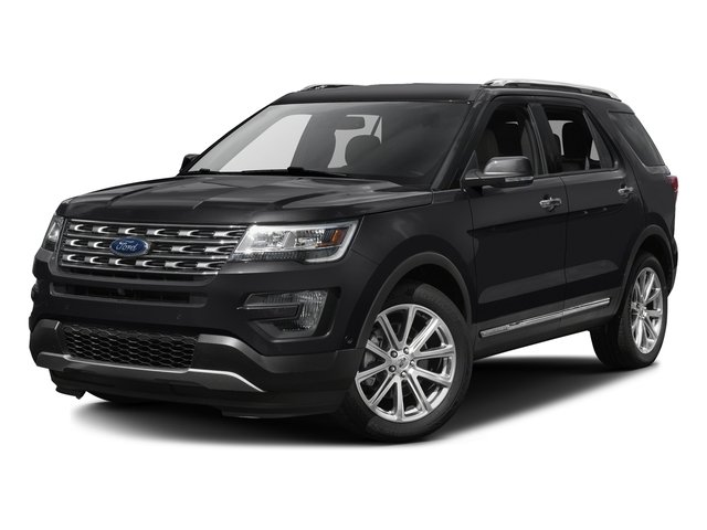 Shadow Black 2016 Ford Explorer Pictures Explorer Utility 4D Limited 2WD V6 photos front view