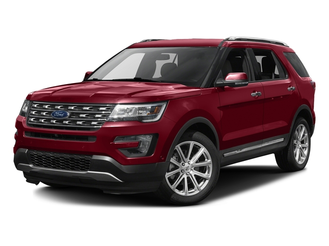 Ruby Red Metallic Tinted Clearcoat 2016 Ford Explorer Pictures Explorer Utility 4D Limited 2WD V6 photos front view