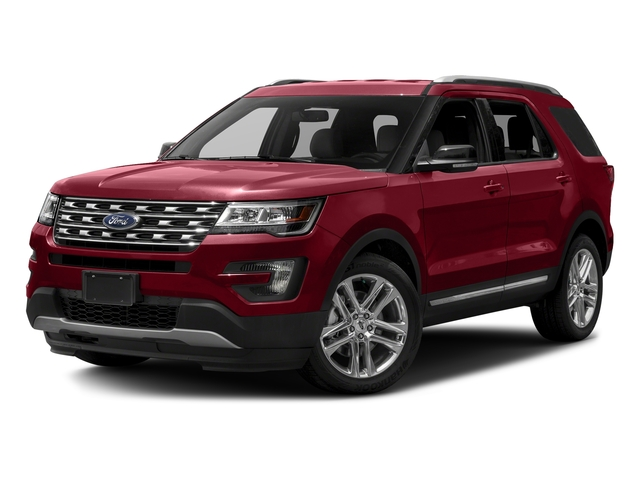 Ruby Red Metallic Tinted Clearcoat 2016 Ford Explorer Pictures Explorer Utility 4D XLT 2WD V6 photos front view