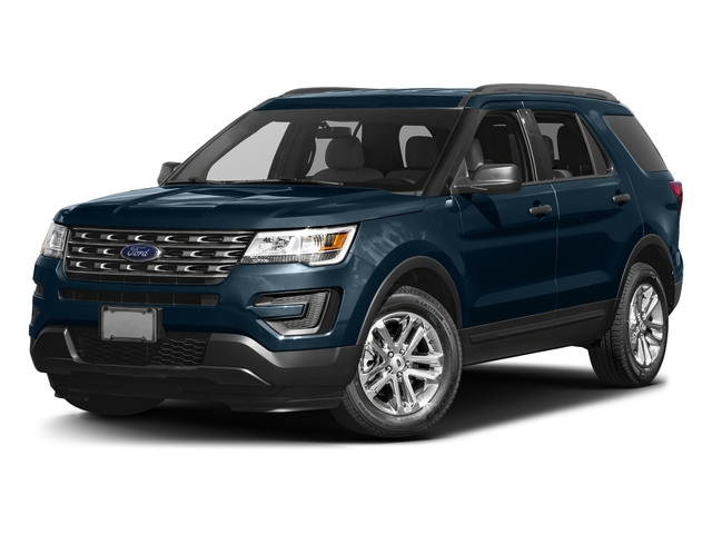 Blue Jeans Metallic 2016 Ford Explorer Pictures Explorer Utility 4D EcoBoost 2WD I4 photos front view