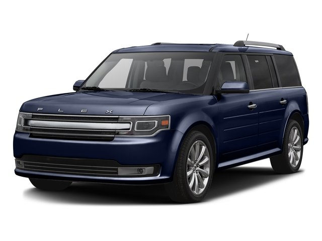 Kona Blue Metallic 2016 Ford Flex Pictures Flex Wagon 4D Limited AWD photos front view