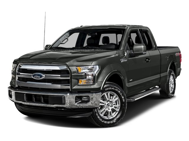 Magnetic Metallic 2016 Ford F-150 Pictures F-150 Supercab Lariat 2WD photos front view