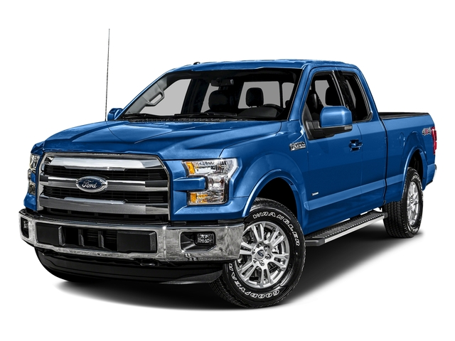 Blue Flame Metallic 2016 Ford F-150 Pictures F-150 Supercab Lariat 2WD photos front view
