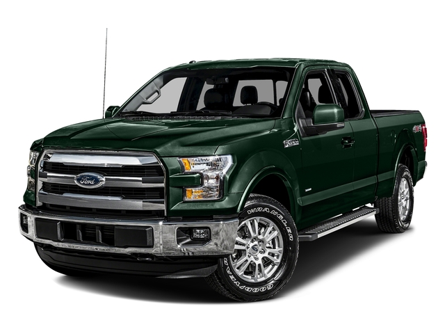 Green Gem Metallic 2016 Ford F-150 Pictures F-150 Supercab Lariat 2WD photos front view