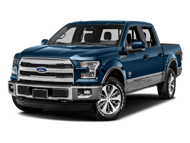 Blue Jeans Metallic 2016 Ford F-150 Pictures F-150 Crew Cab King Ranch 4WD photos front view