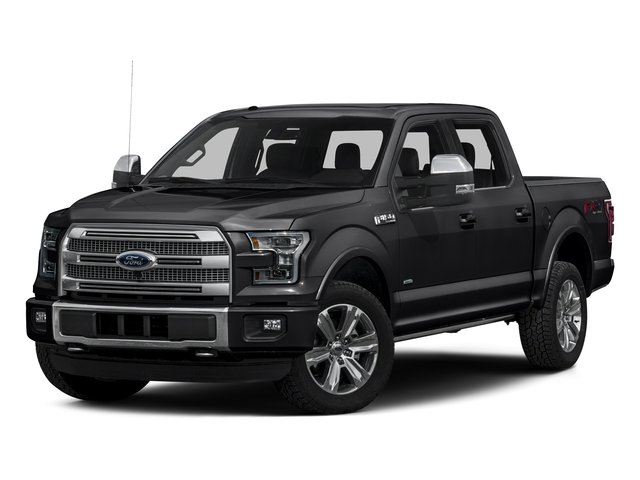 Shadow Black 2016 Ford F-150 Pictures F-150 Crew Cab Platinum 2WD photos front view