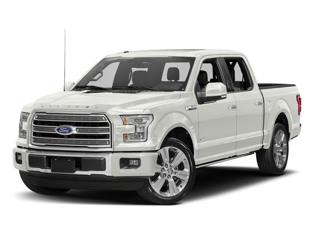 White Platinum Metallic Tri-Coat 2016 Ford F-150 Pictures F-150 Crew Cab Limited EcoBoost 2WD photos front view