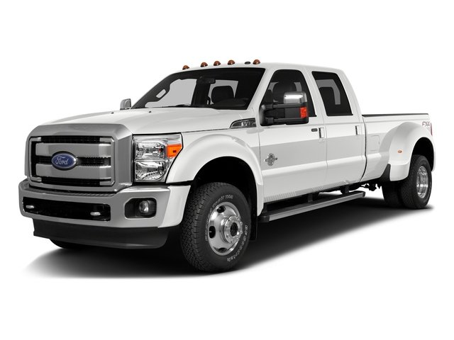 White Platinum Metallic Tri-Coat 2016 Ford Super Duty F-350 DRW Pictures Super Duty F-350 DRW Crew Cab Platinum 4WD photos front view