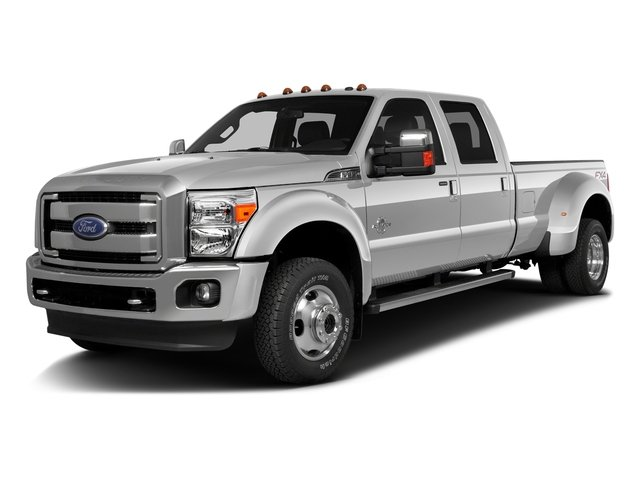 Ingot Silver Metallic 2016 Ford Super Duty F-350 DRW Pictures Super Duty F-350 DRW Crew Cab Platinum 4WD photos front view