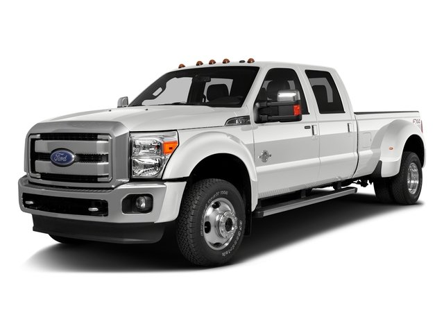 Oxford White 2016 Ford Super Duty F-350 DRW Pictures Super Duty F-350 DRW Crew Cab XL 2WD photos front view