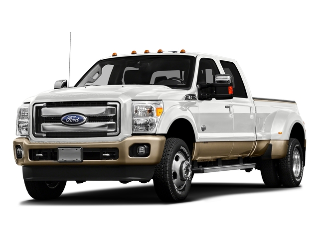 White Platinum Metallic Tri-Coat 2016 Ford Super Duty F-450 DRW Pictures Super Duty F-450 DRW Crew Cab King Ranch 4WD T-Diesel photos front view