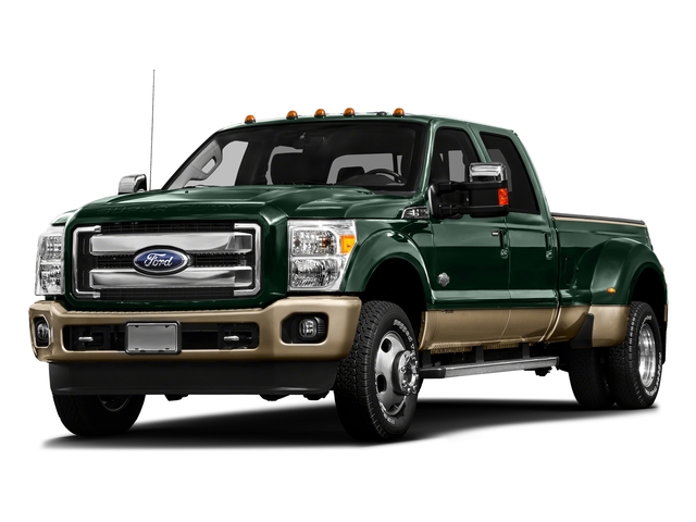 Green Gem Metallic 2016 Ford Super Duty F-450 DRW Pictures Super Duty F-450 DRW Crew Cab King Ranch 4WD T-Diesel photos front view