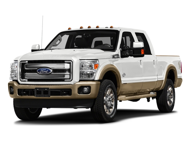 White Platinum Metallic Tri-Coat 2016 Ford Super Duty F-250 SRW Pictures Super Duty F-250 SRW Crew Cab King Ranch 2WD photos front view