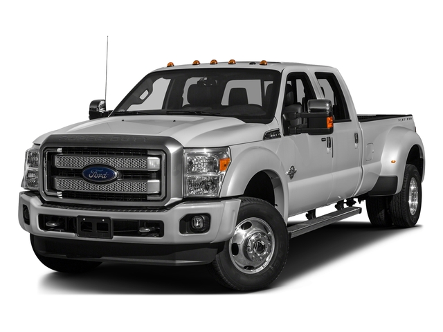 Ingot Silver Metallic 2016 Ford Super Duty F-450 DRW Pictures Super Duty F-450 DRW Crew Cab Platinum 4WD T-Diesel photos front view