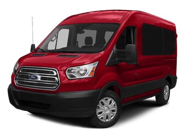 Race Red 2016 Ford Transit Wagon Pictures Transit Wagon Passenger Van XLT Medium Roof photos front view