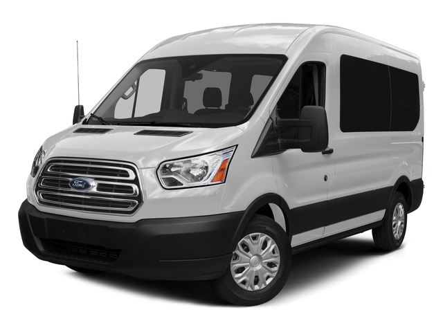 Oxford White 2016 Ford Transit Wagon Pictures Transit Wagon Passenger Van XLT Medium Roof photos front view