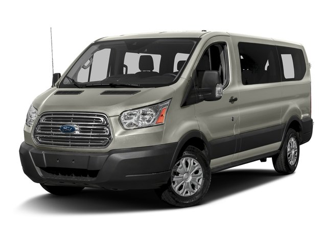 Lunar Sky Metallic 2016 Ford Transit Wagon Pictures Transit Wagon Passenger Van XLT Low Roof photos front view