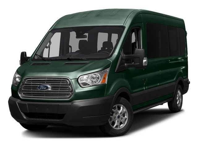 Green Gem Metallic 2016 Ford Transit Wagon Pictures Transit Wagon Passenger Van XL Medium Roof photos front view