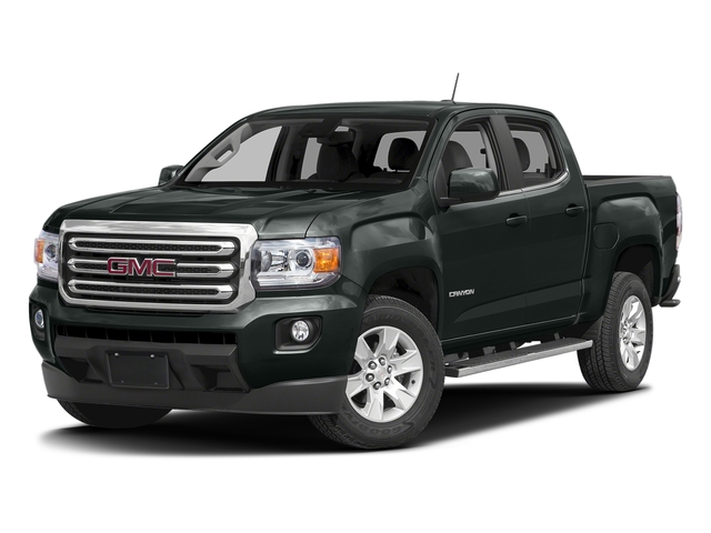 Cyber Gray Metallic 2016 GMC Canyon Pictures Canyon Crew Cab SLE 4WD T-Diesel photos front view