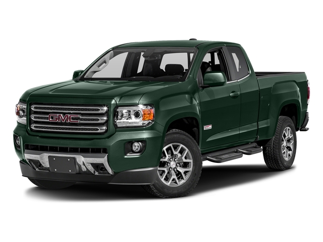 Emerald Green Metallic 2016 GMC Canyon Pictures Canyon Extended Cab SLE 4WD photos front view