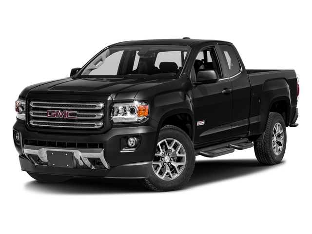 Onyx Black 2016 GMC Canyon Pictures Canyon Extended Cab SLE 4WD photos front view