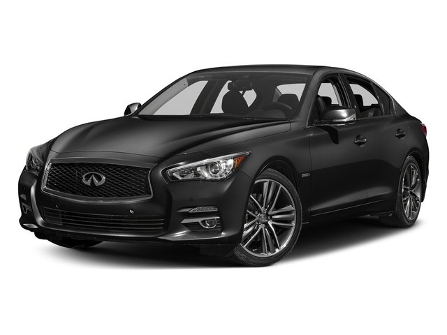 Black Obsidian 2016 INFINITI Q50 Pictures Q50 Sedan 4D AWD V6 Hybrid photos front view
