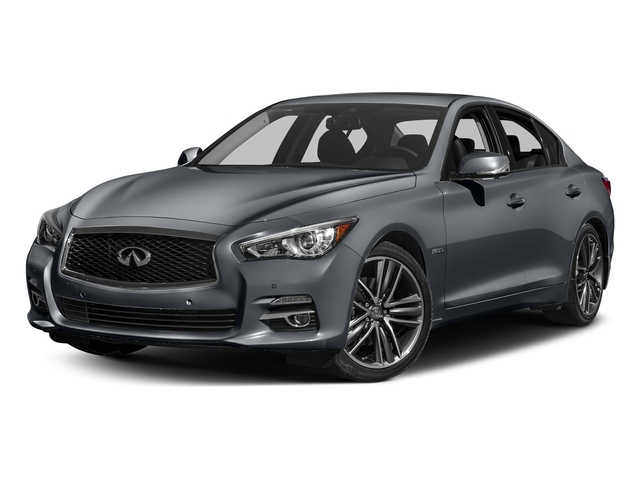 Hagane Blue 2016 INFINITI Q50 Pictures Q50 Sedan 4D AWD V6 Hybrid photos front view