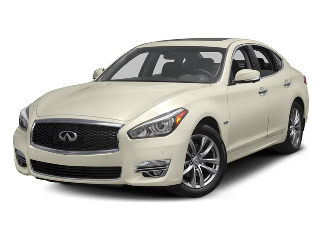 Majestic White 2016 INFINITI Q70h Pictures Q70h Sedan 4D V6 Hybrid photos front view