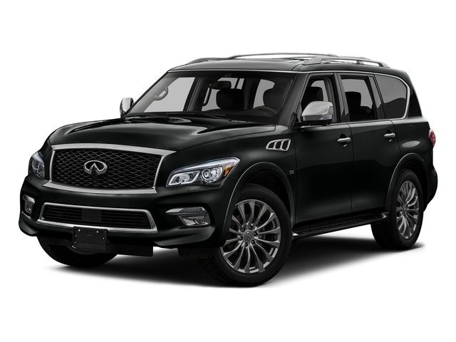 Imperial Black 2016 INFINITI QX80 Pictures QX80 Utility 4D Limited AWD V8 photos front view