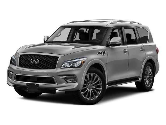 Liquid Platinum 2016 INFINITI QX80 Pictures QX80 Utility 4D Signature AWD V8 photos front view