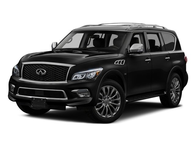 Black Obsidian 2016 INFINITI QX80 Pictures QX80 Utility 4D AWD V8 photos front view