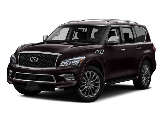 Dark Currant 2016 INFINITI QX80 Pictures QX80 Utility 4D 2WD V8 photos front view