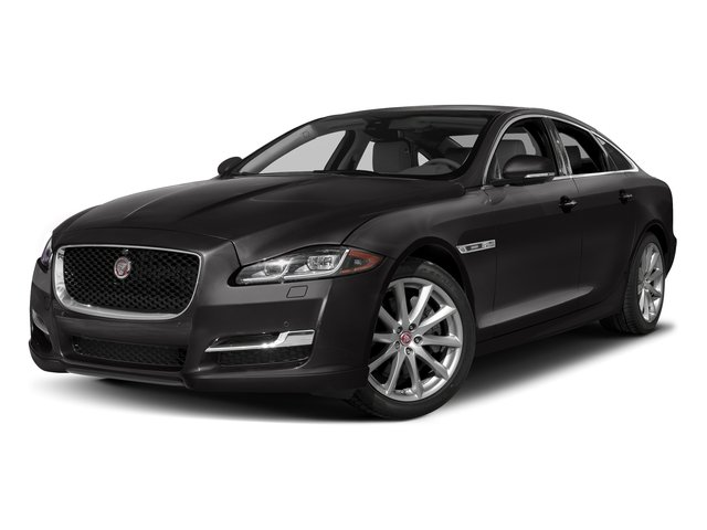 Ultimate Black Metallic 2016 Jaguar XJ Pictures XJ Sedan 4D V8 Supercharged photos front view