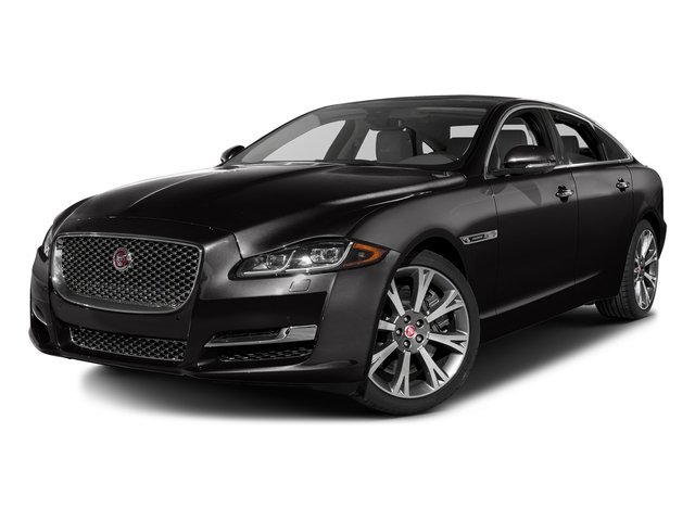 Ultimate Black Metallic 2016 Jaguar XJ Pictures XJ Sedan 4D L Portfolio AWD V6 Sprchrd photos front view