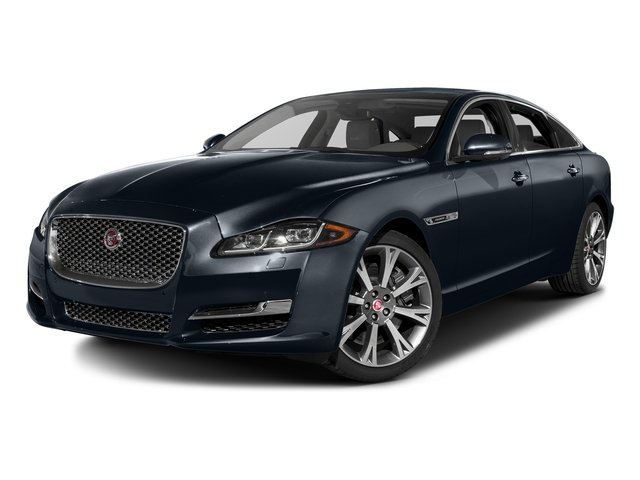 Dark Sapphire Metallic 2016 Jaguar XJ Pictures XJ Sedan 4D L Portfolio AWD V6 Sprchrd photos front view