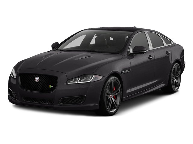 Ultimate Black Metallic 2016 Jaguar XJ Pictures XJ Sedan 4D XJR V8 Supercharged photos front view