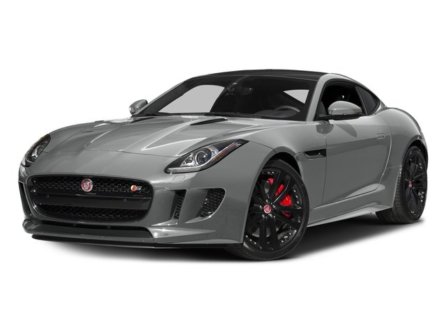Rhodium Silver Metallic 2016 Jaguar F-TYPE Pictures F-TYPE Coupe 2D S AWD V6 photos front view