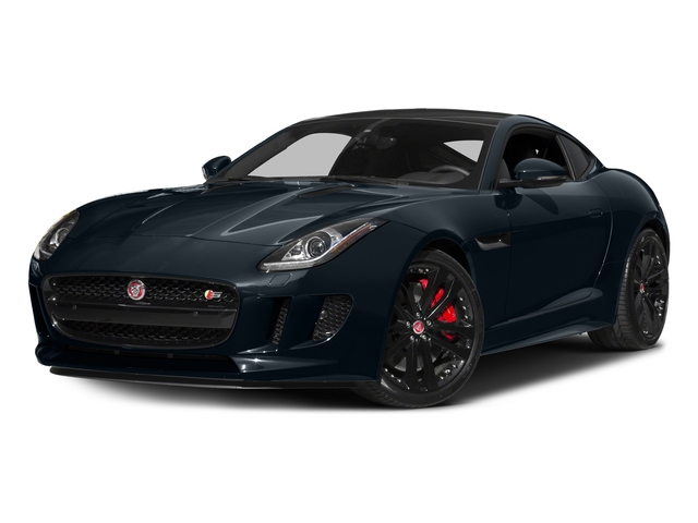 Dark Sapphire Metallic 2016 Jaguar F-TYPE Pictures F-TYPE Coupe 2D S AWD V6 photos front view