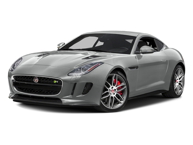Rhodium Silver Metallic 2016 Jaguar F-TYPE Pictures F-TYPE Coupe 2D R AWD V8 photos front view