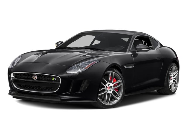 Ebony Black 2016 Jaguar F-TYPE Pictures F-TYPE Coupe 2D R AWD V8 photos front view
