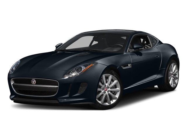 Dark Sapphire Metallic 2016 Jaguar F-TYPE Pictures F-TYPE Coupe 2D V6 photos front view