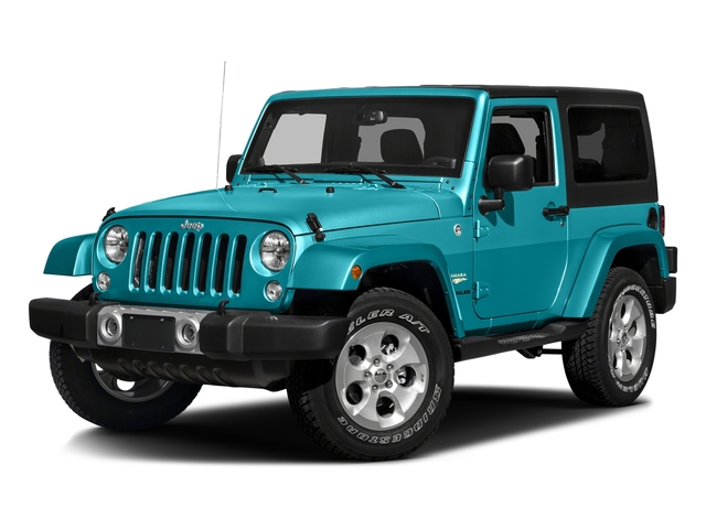 Hydro Blue Pearlcoat 2016 Jeep Wrangler Pictures Wrangler Utility 2D Sahara 4WD V6 photos front view