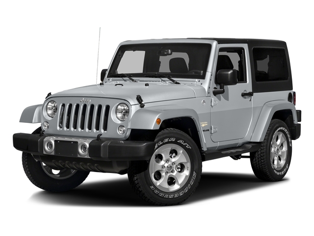 Billet Silver Metallic Clearcoat 2016 Jeep Wrangler Pictures Wrangler Utility 2D Sahara 4WD V6 photos front view