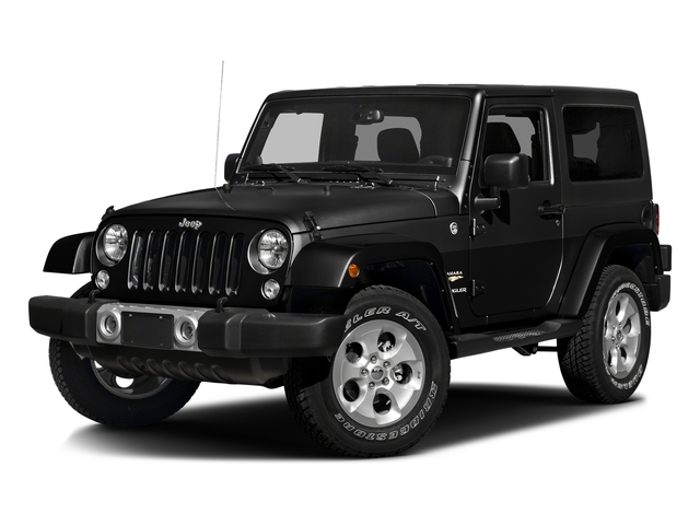 Black Clearcoat 2016 Jeep Wrangler Pictures Wrangler Utility 2D Sahara 4WD V6 photos front view