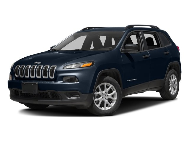 True Blue Pearlcoat 2016 Jeep Cherokee Pictures Cherokee Utility 4D Sport 4WD V6 photos front view